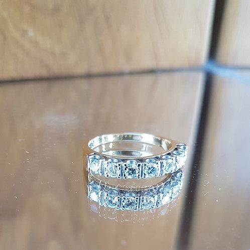 Stunning Quality 18ct gold diamond half eternity ring 0.70ct FREE SIZING