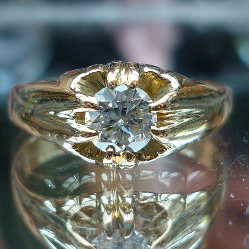 Stunning Victorian 18ct gold Old cut solitaire 0.60ct diamond ring