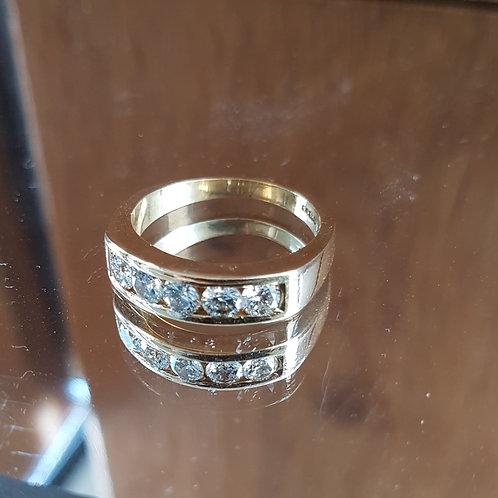 Stunning Quality 18ct gold 5 diamond half eternity ring 1.25ct