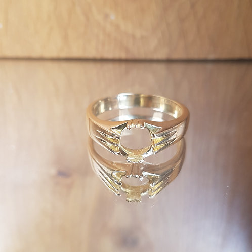 18ct Gold heavy Vacant setting 9.3g Choose any stone