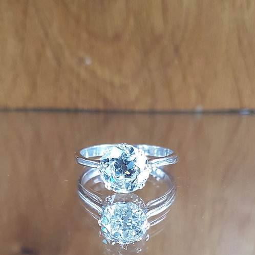 Exquisite 18ct gold 2.25ct OLD CUT solitaire diamond Heritage ring