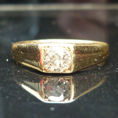 Stunning Victorian 18ct gold Old cut solitaire 0.55ct diamond ring