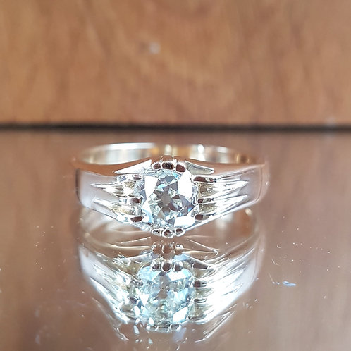 Exquisite HEAVY GENTS 18ct Gold 1.85ct OLD MINE CUT solitaire diamond ring
