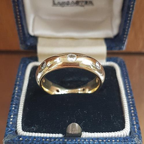 Stunning very Heavy 18ct gold diamond full eternity ring size M 1/2  7.5g
