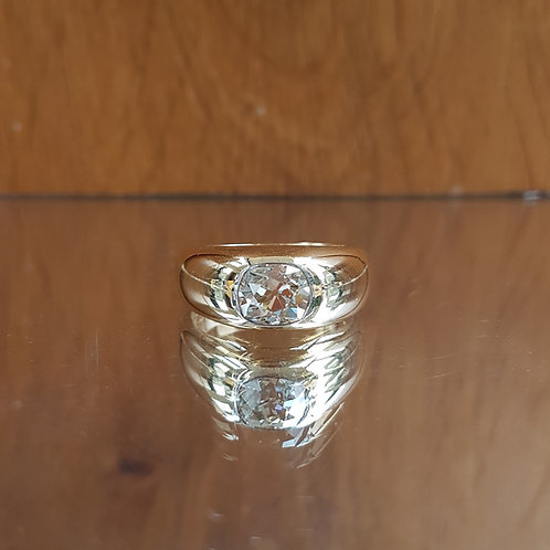 Exquisite Victorian 18ct Gold 1.85ct OLD CUT solitaire diamond ring