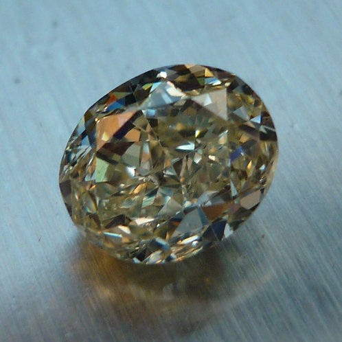 Stunning 1.50ct Oval Natural Fancy Yellow loose diamond