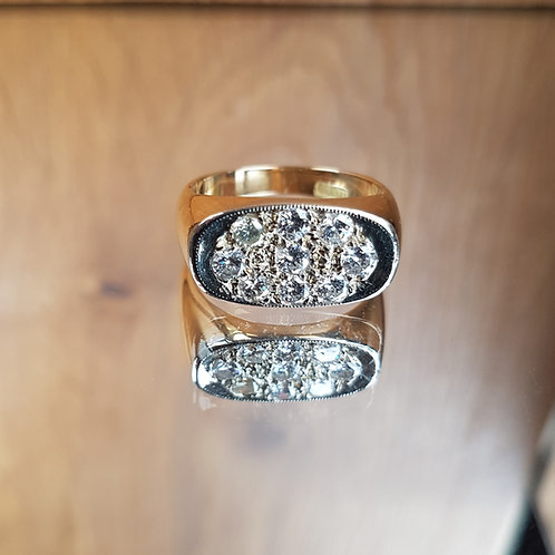 Stunning HEAVY 8.7g 18ct gold 0.90ct diamond ring - Suit a Gent or Lady