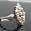Thumbnail: Stunning 14ct white gold 1.9ct Old Cut diamond marquise cluster ring