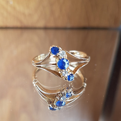 Stunning 18ct gold Sapphire and diamond ring George V C1913 - Outstanding
