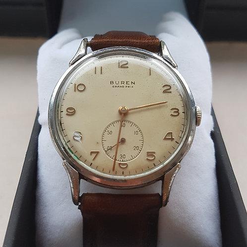 Beautiful C1945 Buren Grand Prix Watch Cal 410 movement. Dirty Dozen watch.