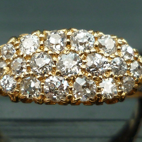 Stunning 18ct gold 1.8ct Victorian Old Mine Cut diamond cluster ring INVESTMENT!