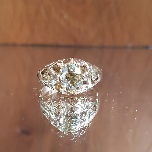 Exquisite Victorian 18ct gold 1.35ct Old cut solitaire diamond ring