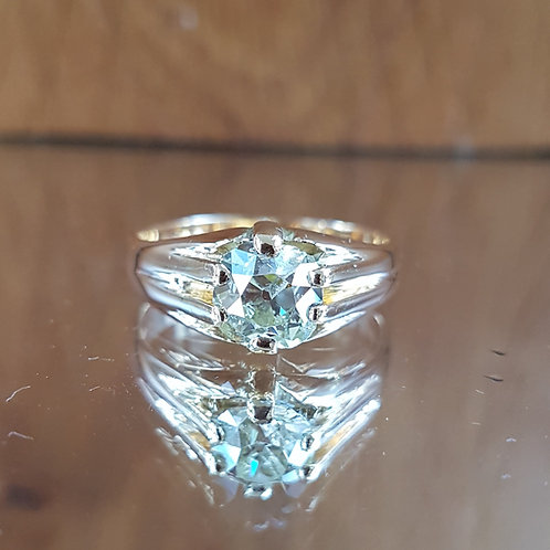 Exquisite Victorian 18ct Gold 1.30ct OLD MINE CUT solitaire diamond ring