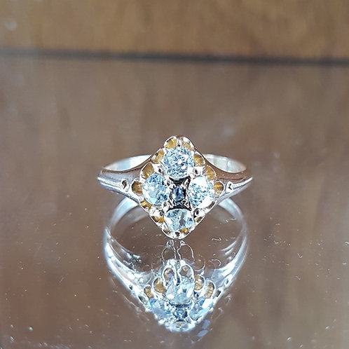 Stunning 18ct gold 0.70ct Victorian C1874 Old Mine Cut diamond ring