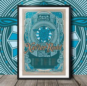 Xavier Rudd 2016 Tour Poster
