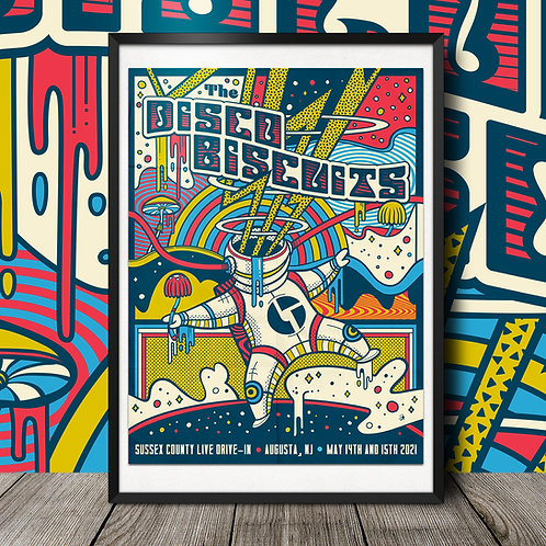 The Disco Biscuits Jersey Gig Poster