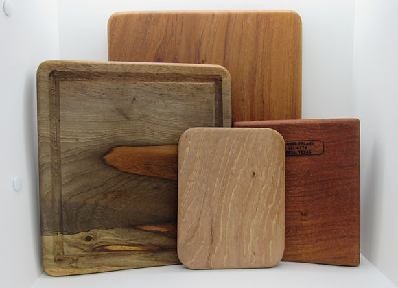 Pecan Cutting Boards and Wood Platters