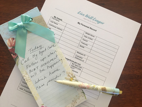 Staying Organised on the Aged Care Journey