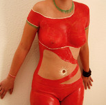 """Chocolate body painting """"Lady in red"""""""