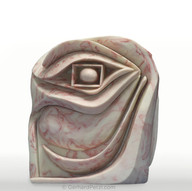 """""""Eye of Ra""""(2001), marbled white chocolate sculpture"""
