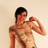 "Chocolate body painting ""Smile"""