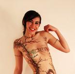 "Chocolate body painting ""Smile"""