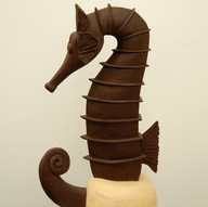 """Sea horse"" chocolate sculpture, 16 kg"