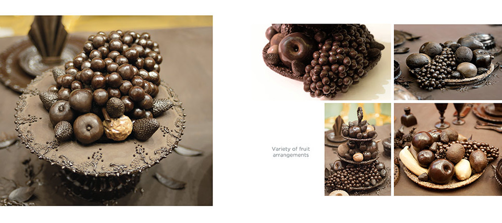 Chocolate fruit platters andd stands