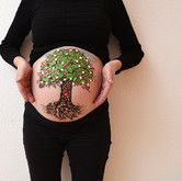 "Chocolate body painting ""Life tree"""