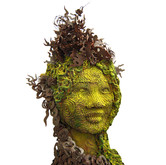 "Chocolate sculpture ""Mossy head"""