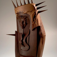"""Composition I"" chocolate sculpture"