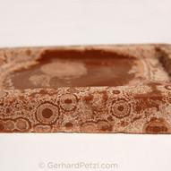 Auskristallisierter Milchschokoladenblock