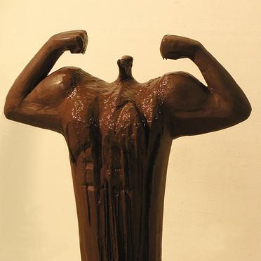 Chocolate bodybuilder - melting in progress-1