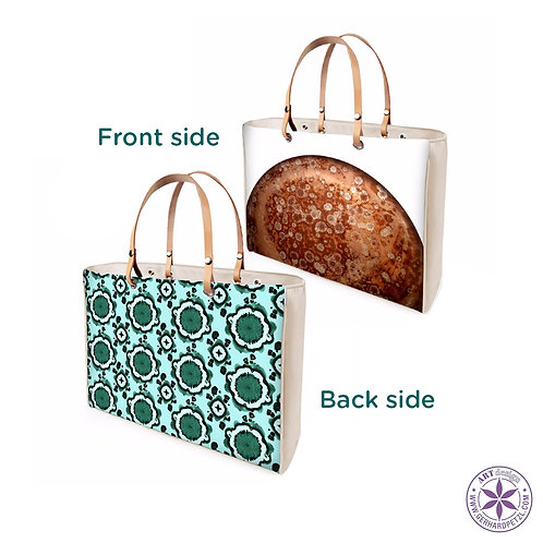 Leather Tote Bag - 2 designs in 1
