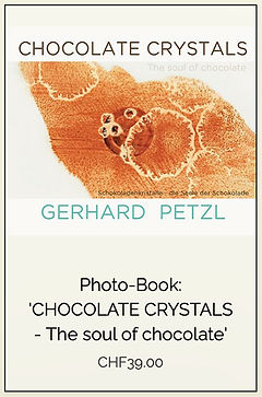 "Photobook ""Chocolate Crystals-the soul of chocolate"" by Gerhard Petzl"
