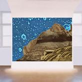 Starry night mountains