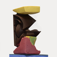 """Cubism"" abstract chocolate sculpture,"
