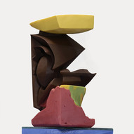 """""""Cubism"""" abstract chocolate sculpture,"""
