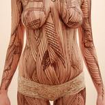 """Chocolate body painting """"Nature"""""""