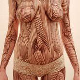 "Chocolate body painting ""Nature"""