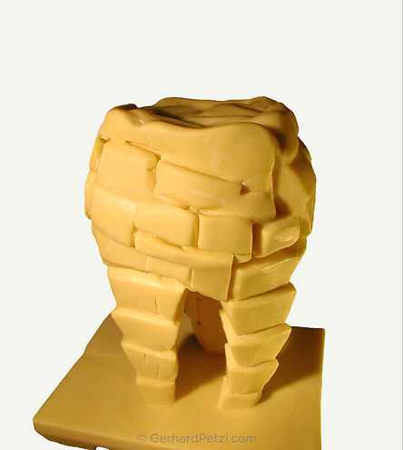 "Chocolate sculpture ""Caries"" by artist Gerhard Petzl"