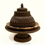 Chocolate cake sculpture on stand, 100% edible