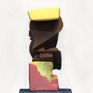 'Cubism' abstract chocolate sculpture