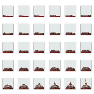 Series of assembling the final artwork