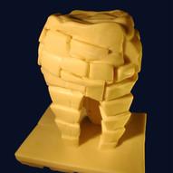 """Caries"" (2005) chocolate sculpture"