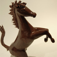 "Hand-carved ""Ferrari horse"" in chocolate"