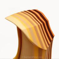 Layered chocolate sculpture - top part detail