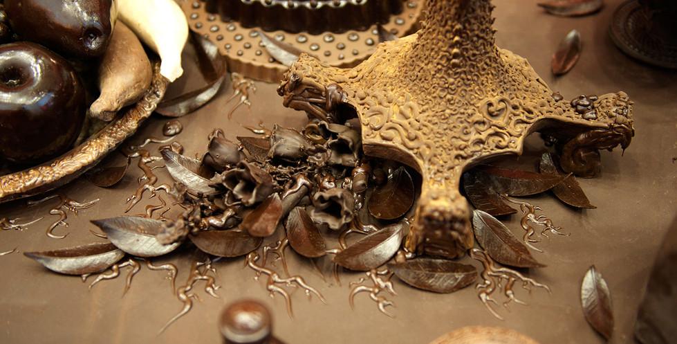 Details of candlestand bottom