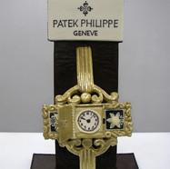 """Patek Philippe"" golden chocolate clock"
