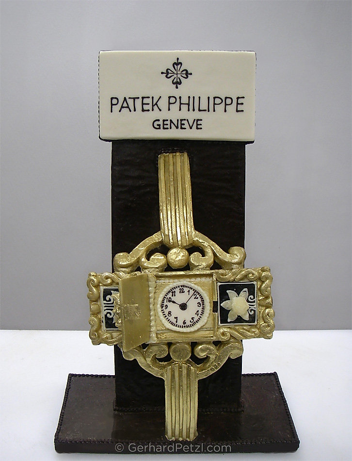 Patek-Philippe-clock chocolate sculpture by Gerhard Petzl